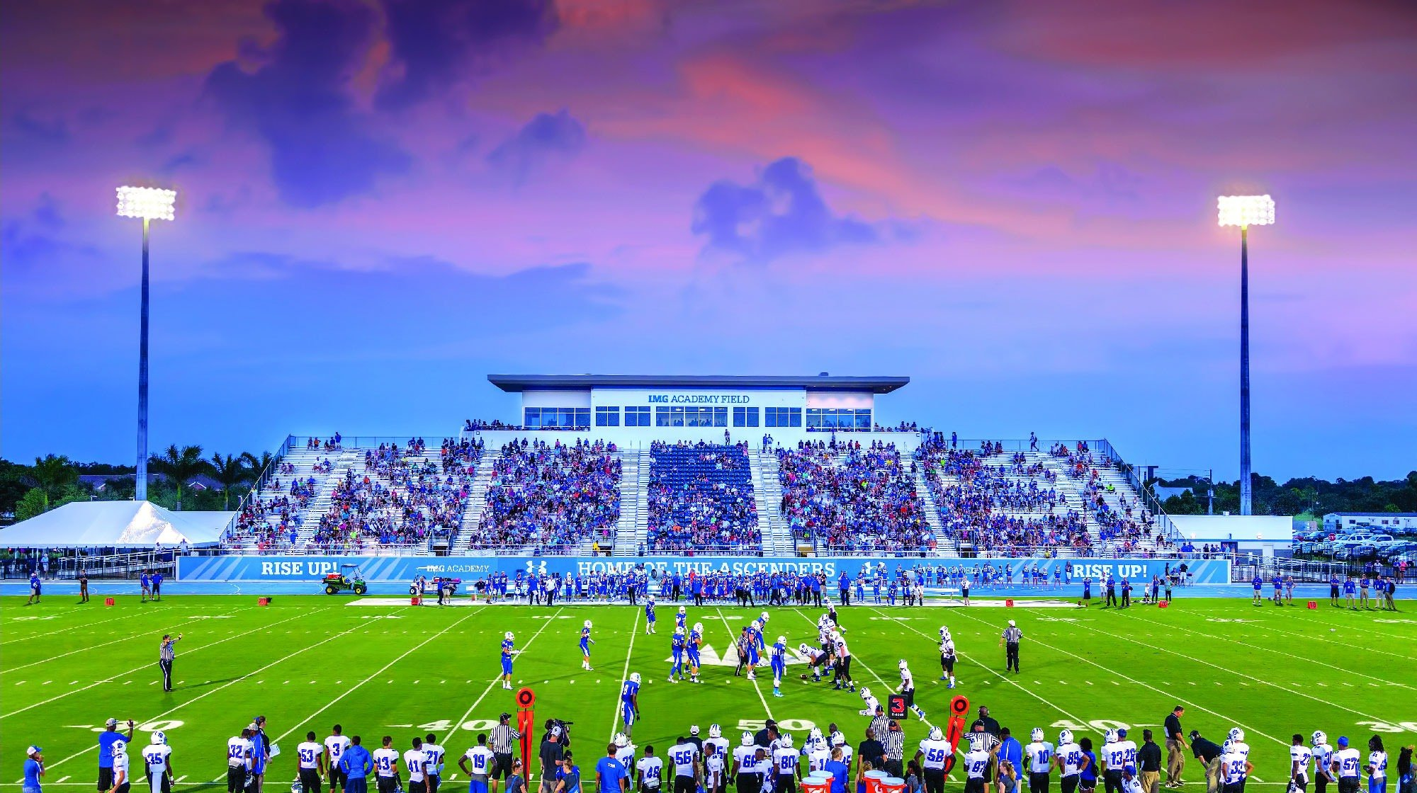 IMG Academy Stadium Grandstands Bleachers Pressbox