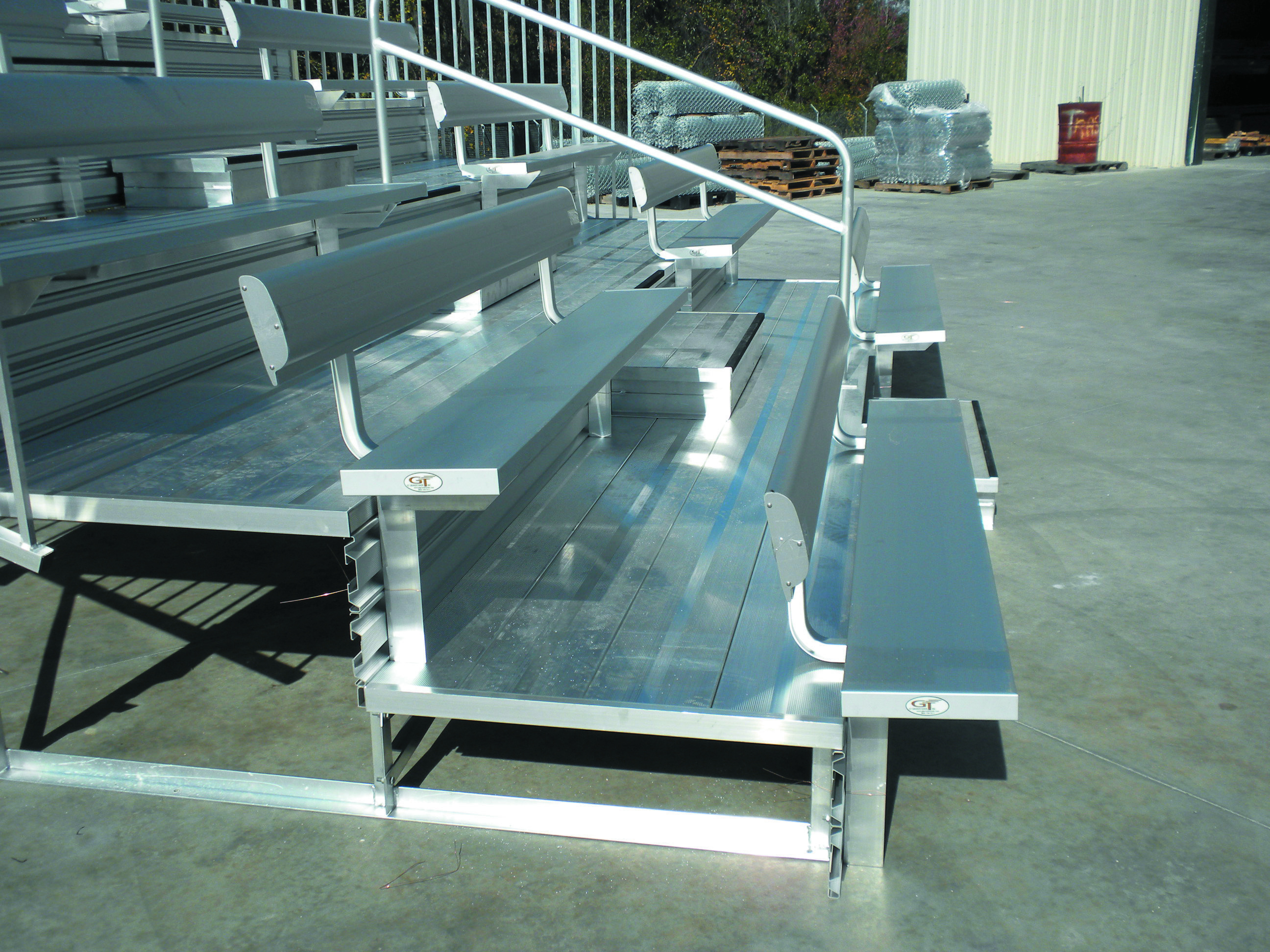 Aluminum team benchGalvanized Bench with BackGalvanized Bench without BackAluminum Bench without Back