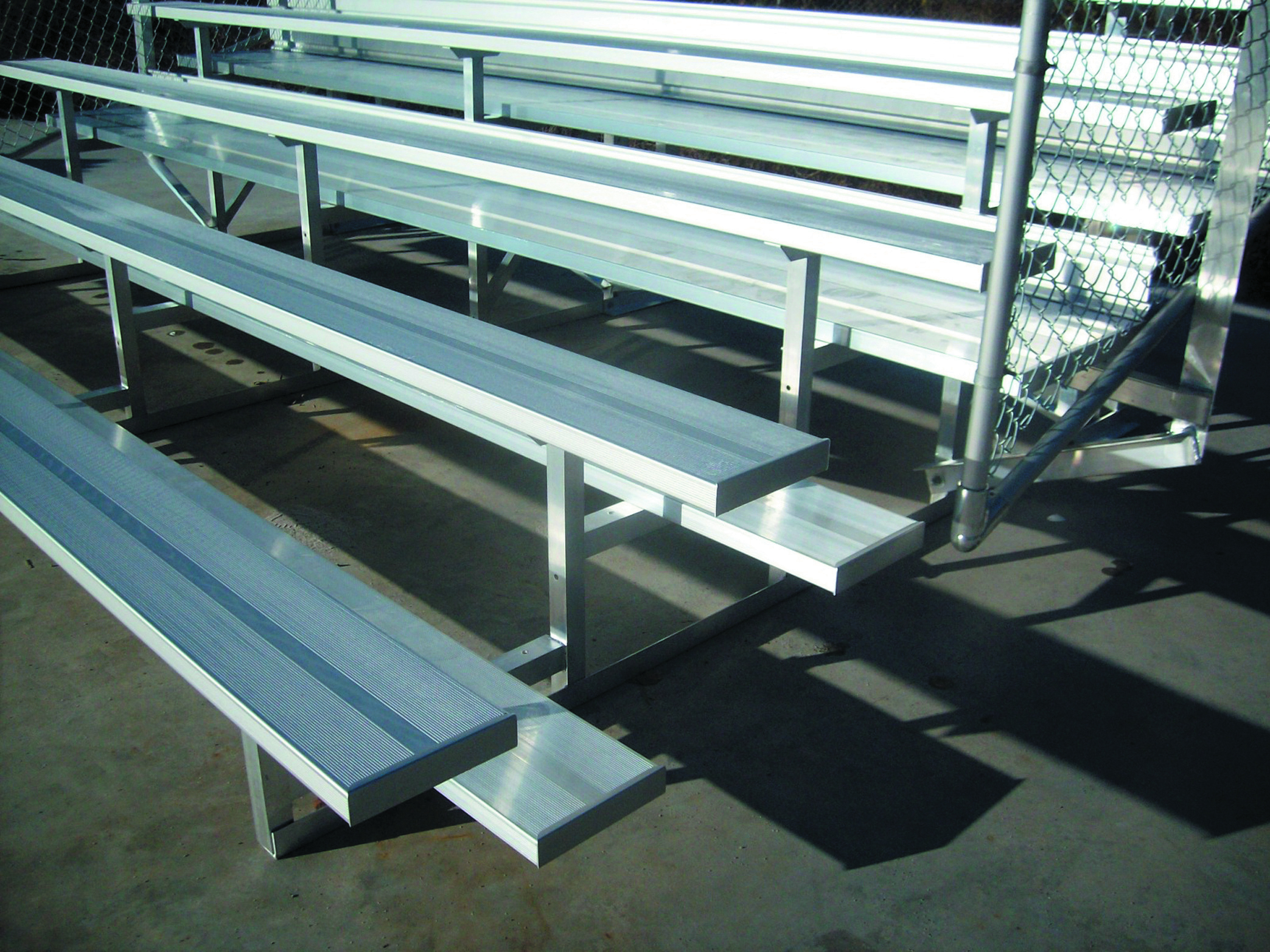 NR Series Models are available in many variations, Pictures can represent various available models in series, Double and single footboard options, Available with Vertical Picket or Chain-link Guardrails