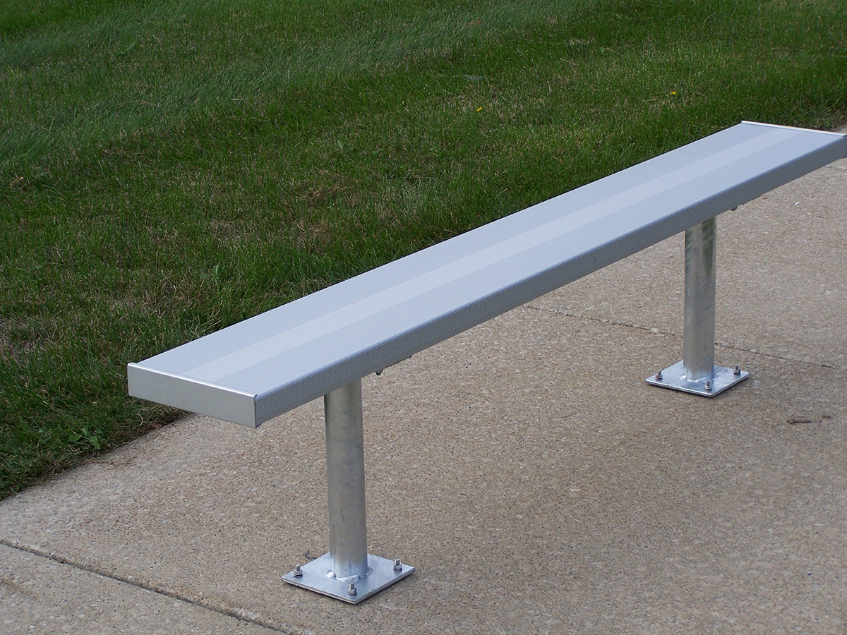 Galvanized Bench without Back