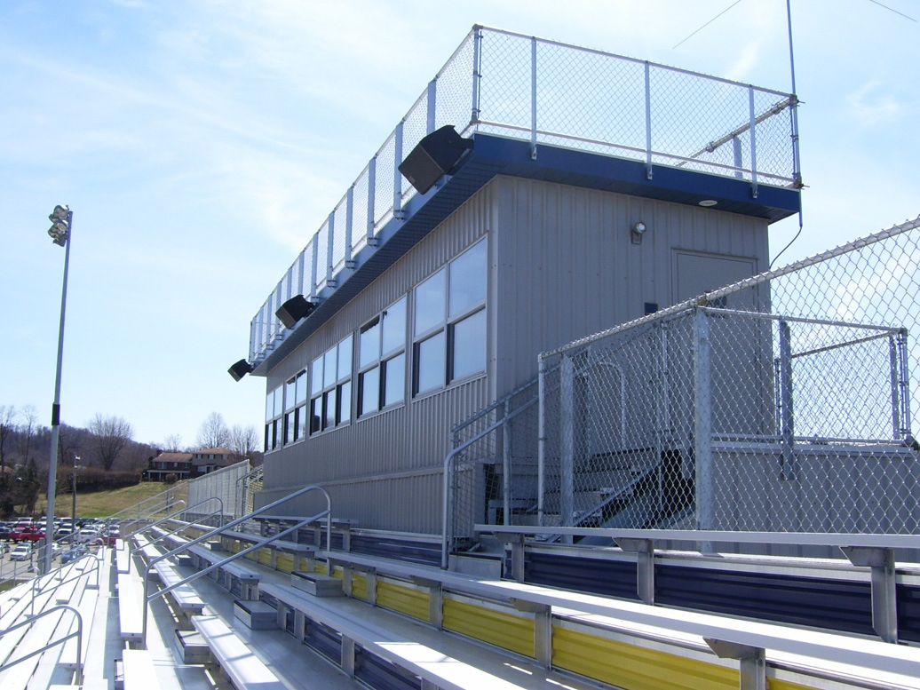 press box with grandstands