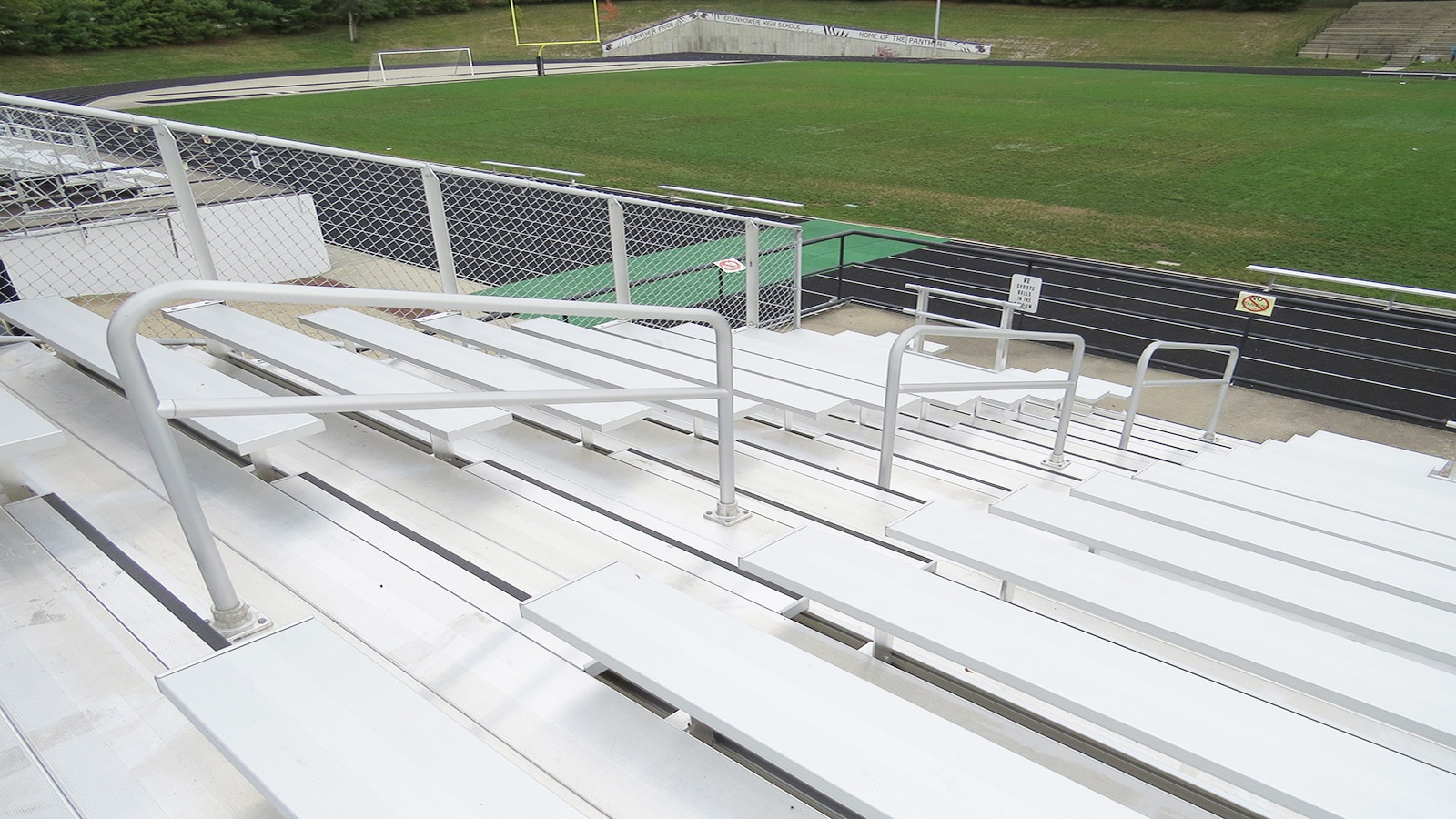 Football bleacher seating in Decatur, IL