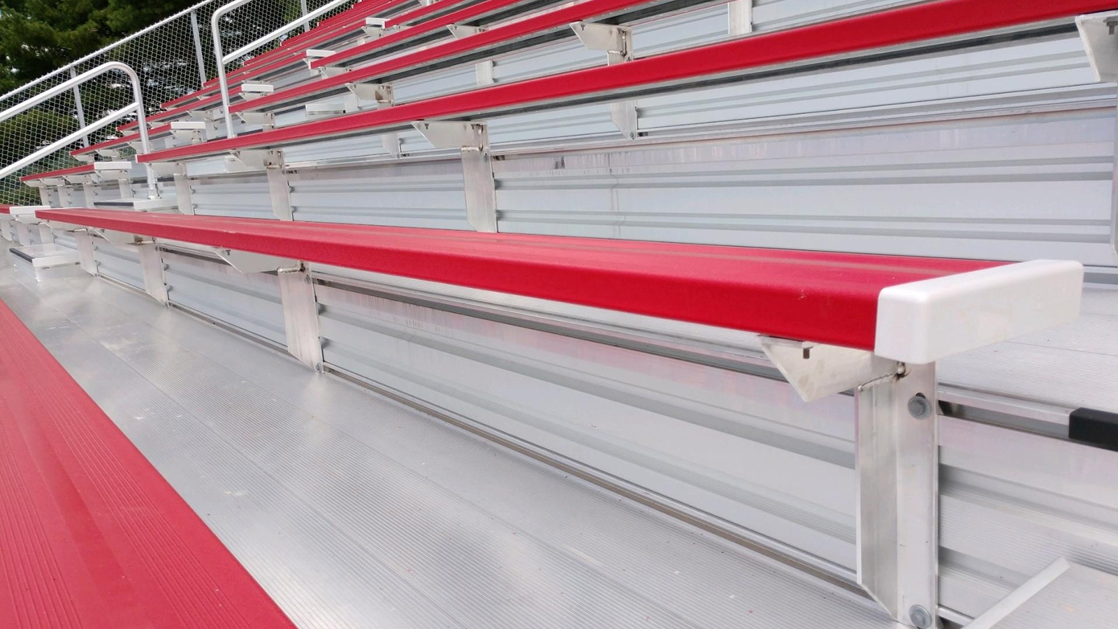 Football aluminum bleachers
