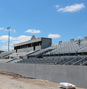 A GT Grandstands Installation