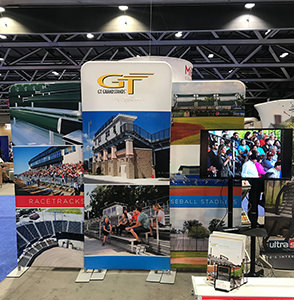 GT Grandstands display in their factory