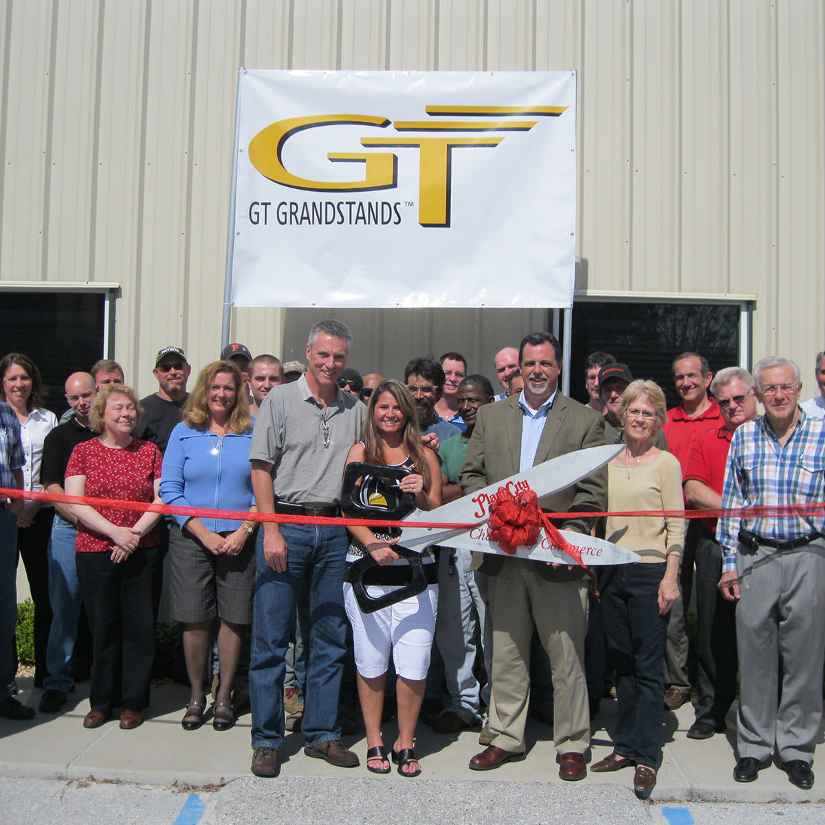 The GT Grandstands ribbon cutting